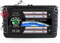 Double Din 8 Inch VW Jetta Dvd Player , VW Dvd Gps Car Radio Support TPMS Kit