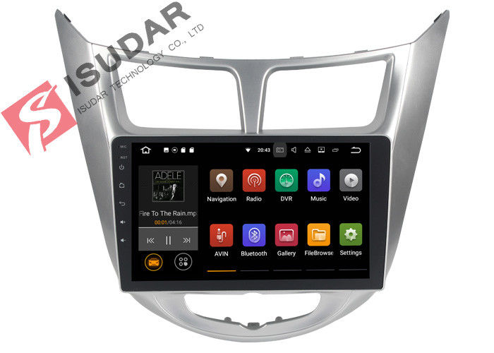 USB DVR Video Input Android Auto Car Stereo For Hyunida Verna / Solaris / Accent 2011