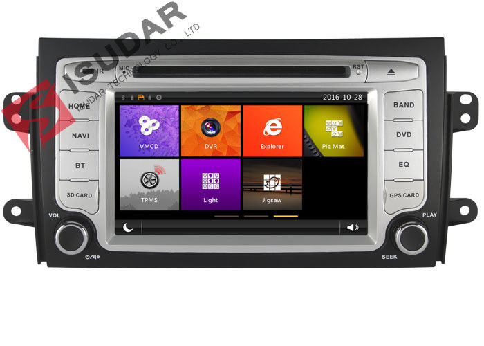 In Dash Car GPS Navigation 2 Din Car Dvd Player For SUZUKI SX4 2006-2012 3G Ipod