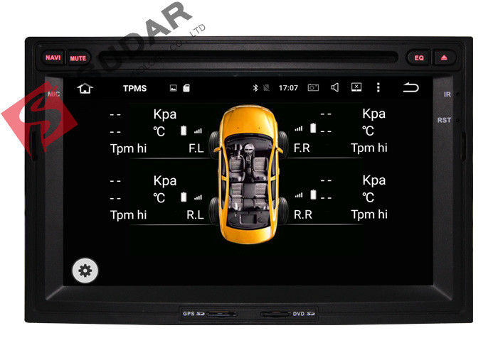 1024x600 Octa Core Android 2 Din Car DVD Player Peugeot 3008 Head Unit Support 3G/4G
