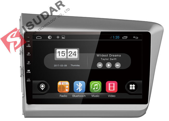 New Allwinner T3 Android Car Navigation System Honda Civic Head Unit With 4G WIFI