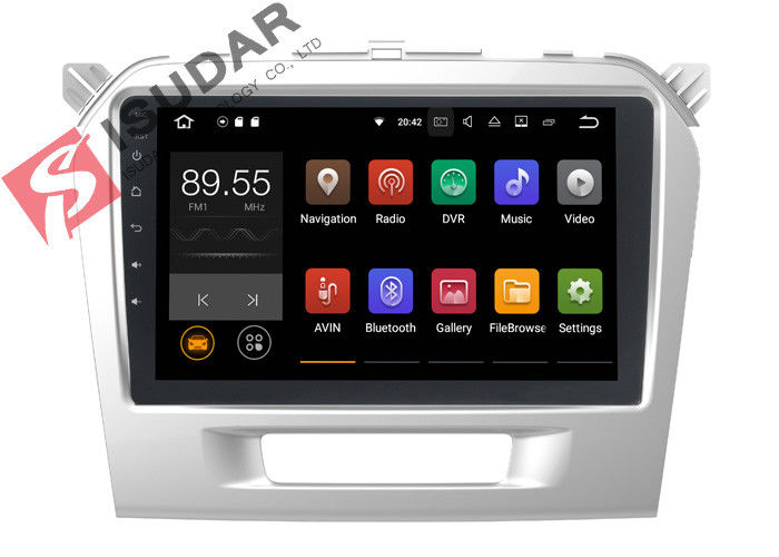 Quad Core Android 7.1.2 Suzuki Grand Vitara Dvd Gps System , In Dash Touch Screen Stereo