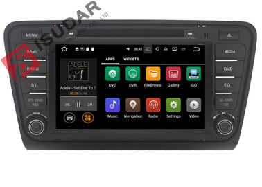 Iphone & Android Car DVD Player หัวหน้าหน่วย Skoda Octavia ARM Cortex A9 Quad Core 1.6GHZ