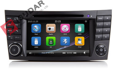 ออโต้วิทยุ Double Din Gps Car Stereo, Mercedes E Class Dvd Player ในตัว SD Port